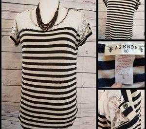 B&W Striped Soft Short Sleeve T-Shirt